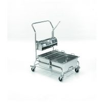 DUO 300 Cleanroom stainless steel cleaning trolley